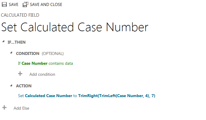 CRM No Code ID - Set Calculated Case Number