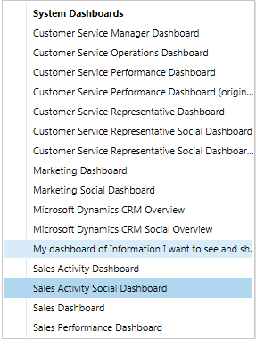 CRM Dashboard - custom role sys admin