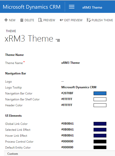 CRM Themes - Color